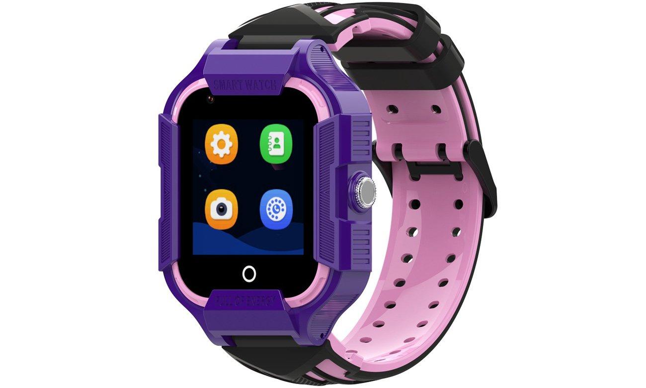 Smartwatch Garett Kids Neon 4G Fioletowy