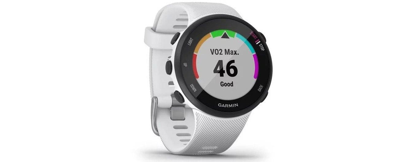 Zegarek sportowy Garmin Forerunner 45S biały