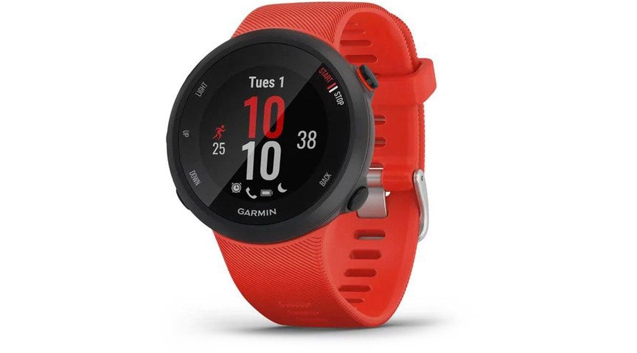 Zegarek sportowy Garmin Forerunner 45 czerwony