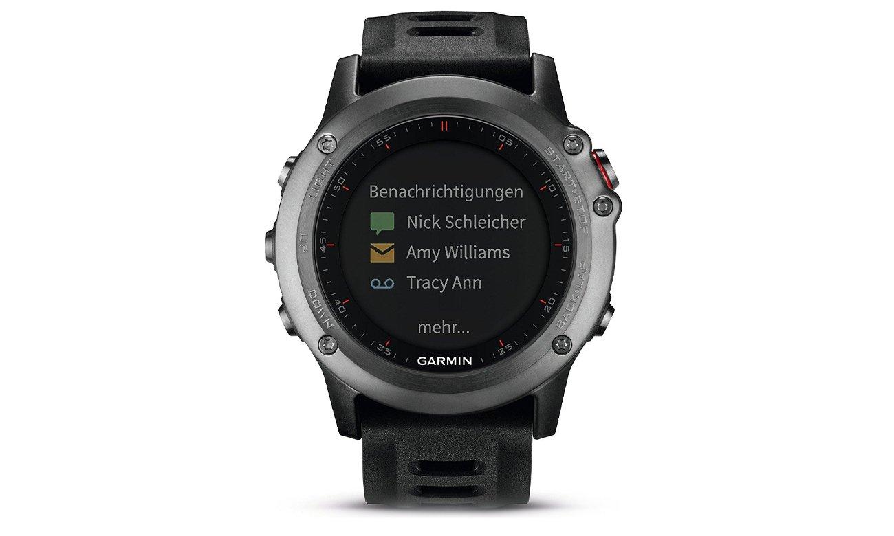 Zegarek sportowy Garmin Fenix 3 szary Pomiary Przód