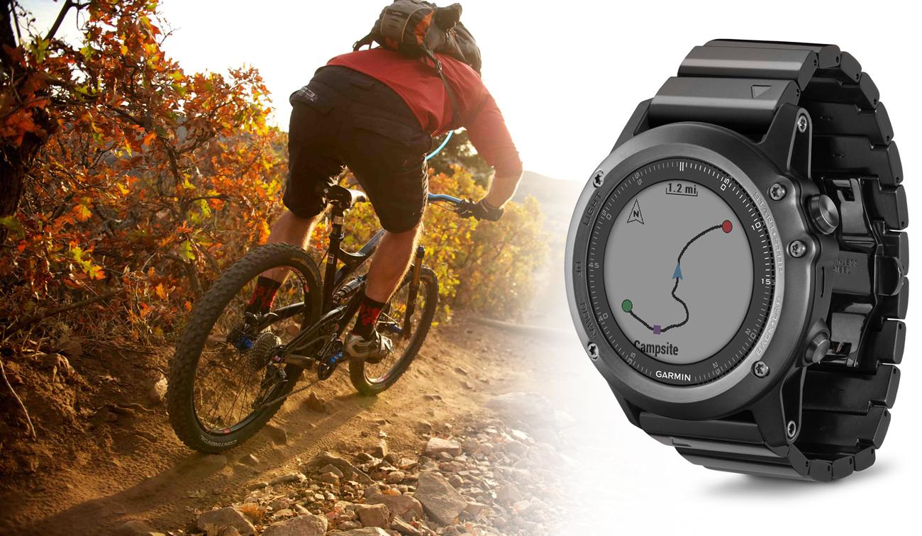 Zegarek sportowy Garmin Fenix 3 szary Nawigacja Przód