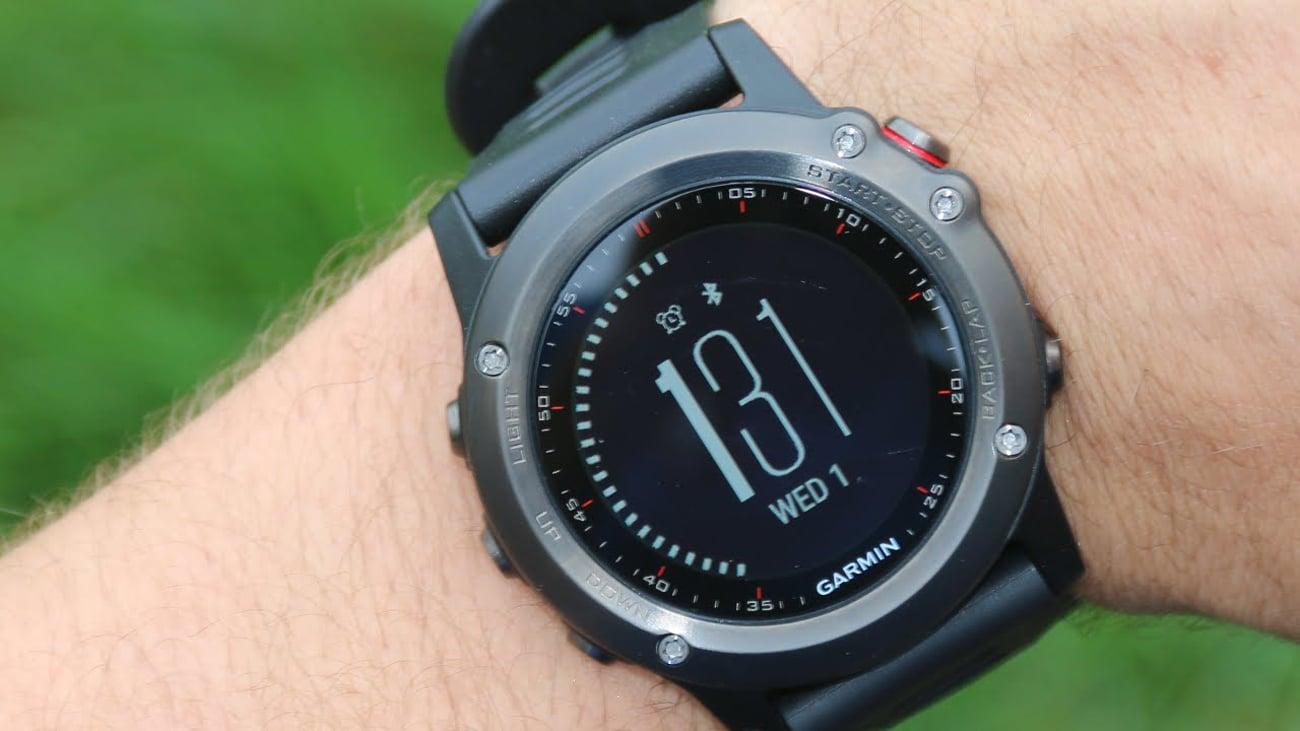 Zegarek sportowy Garmin Fenix 3 szary Powiadomienia
