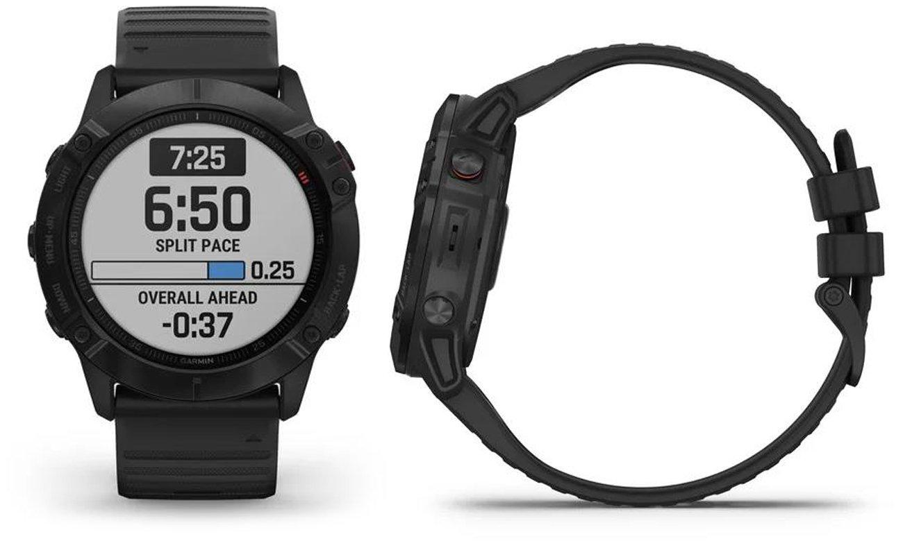 Multisportowy zegarek Garmin Fenix 6X PRO stalowoszary z mapami OSM