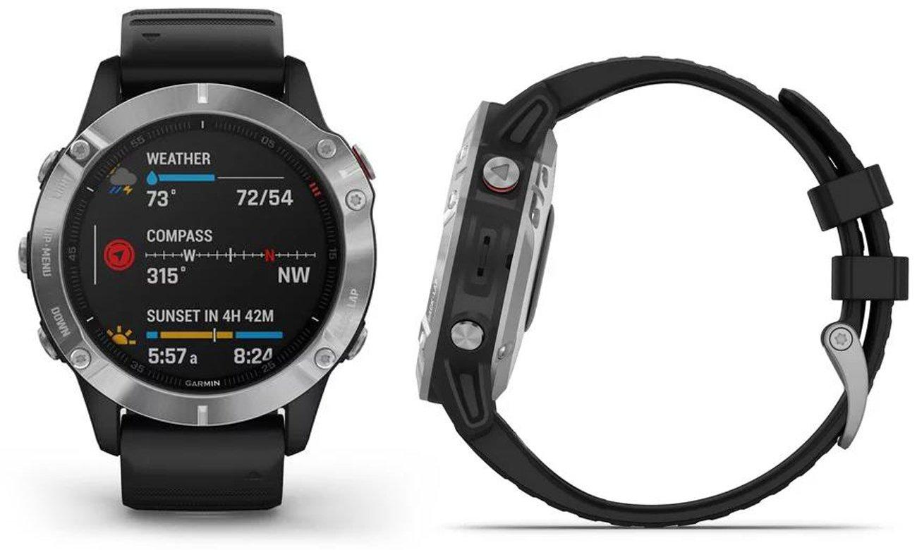 Multisportowy zegarek Garmin Fenix 6 srebrno-czarny