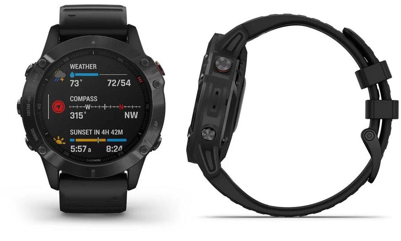 Multisportowy zegarek Garmin Fenix 6 PRO stalowoszary