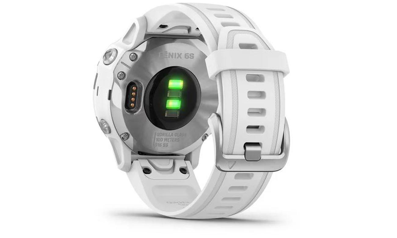 Die Smartwatch mit der Technologie für die Herzfrequenzmessung GARMIN Fenix 6S weiss silber