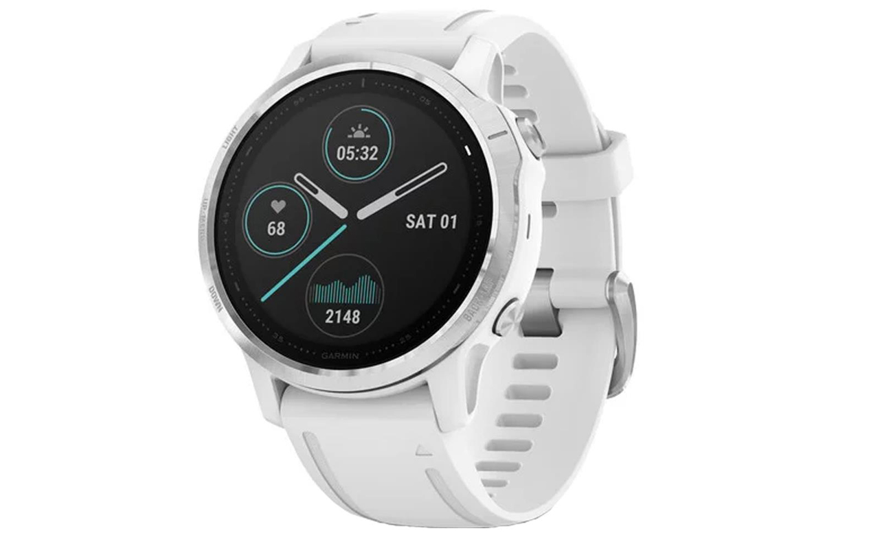Die Smartwatch mit der Akkulaufzeit von bis zu 9 Tagen GARMIN Fenix 6S weiss silber
