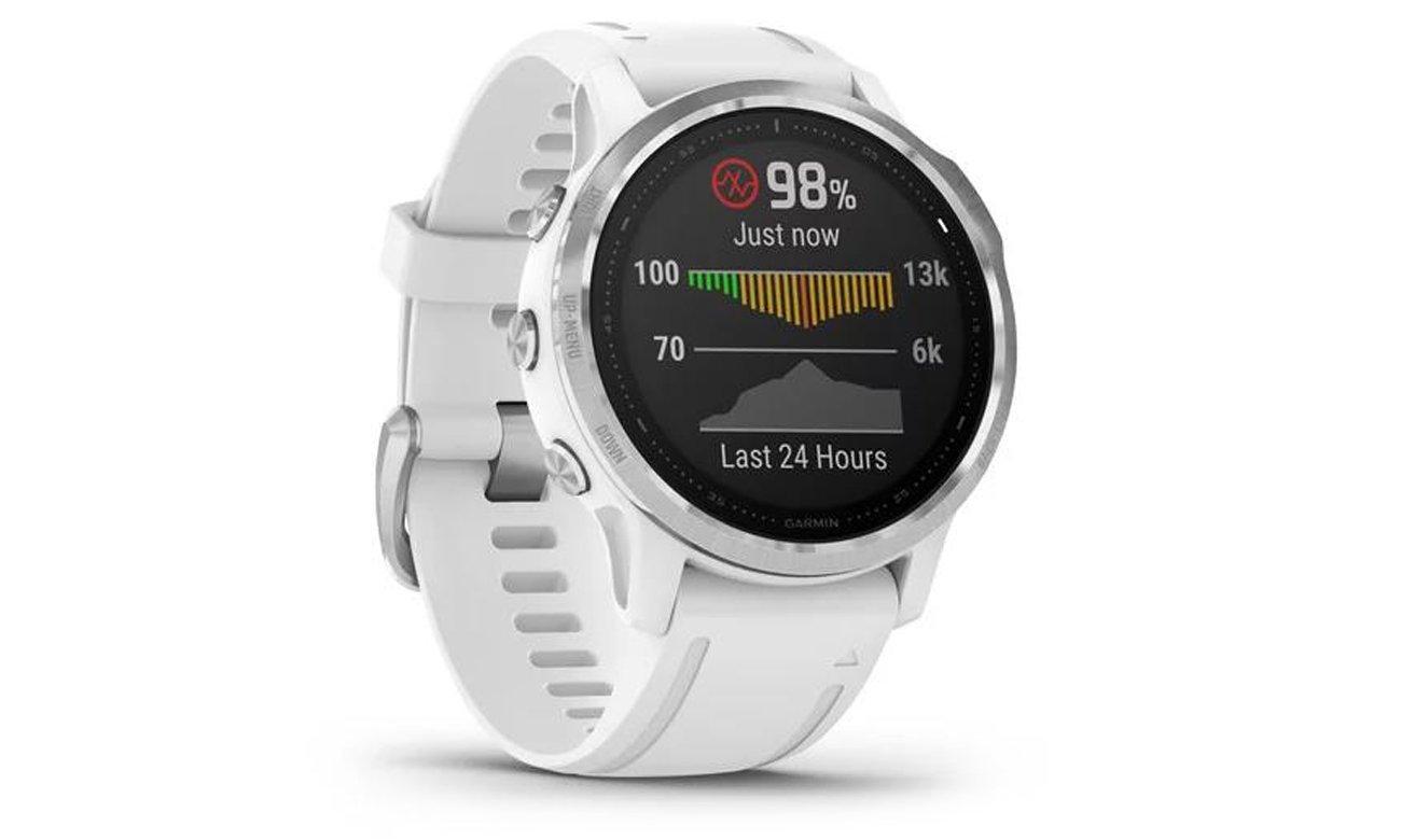 Die Smartwatch mit ABC Sensoren GARMIN Fenix 6S weiss silber