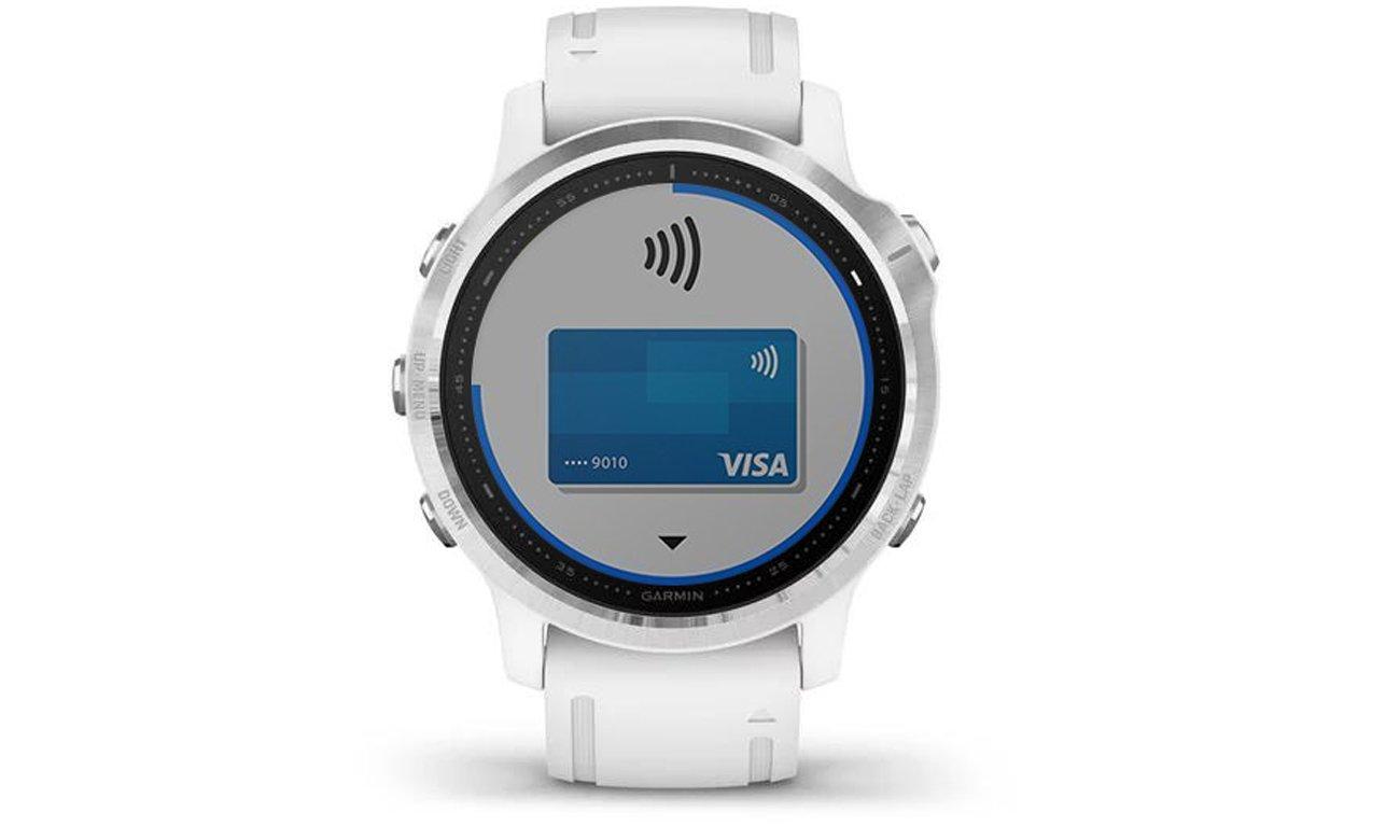 Smartphone Benachrichtigungen und Zahlungen ohne Portemonnaie mit der Smartwatch GARMIN Fenix 6S weiss silber