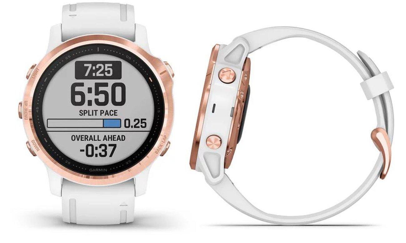 Multisportowy zegarek Garmin Fenix 6S PRO różowe złoto