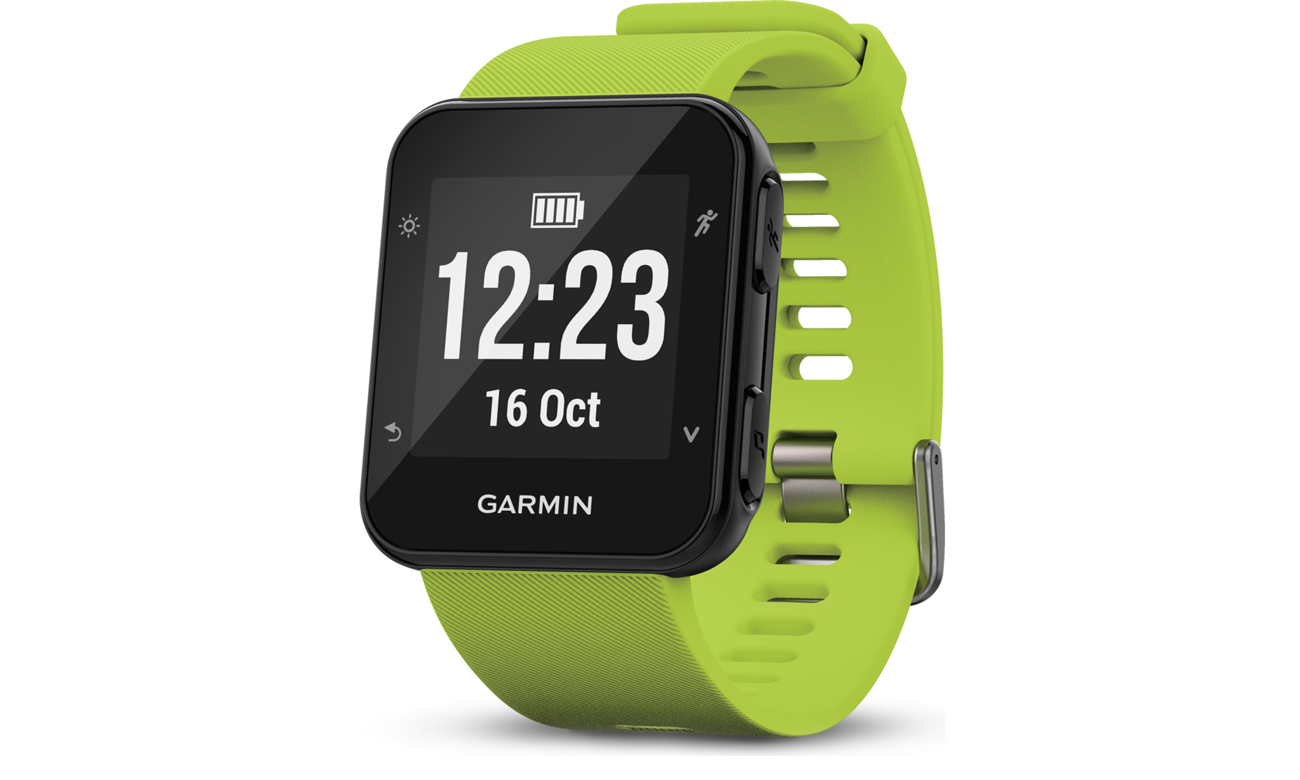 Zegarek sportowy Garmin Forerunner 35 Limonkowy Przód