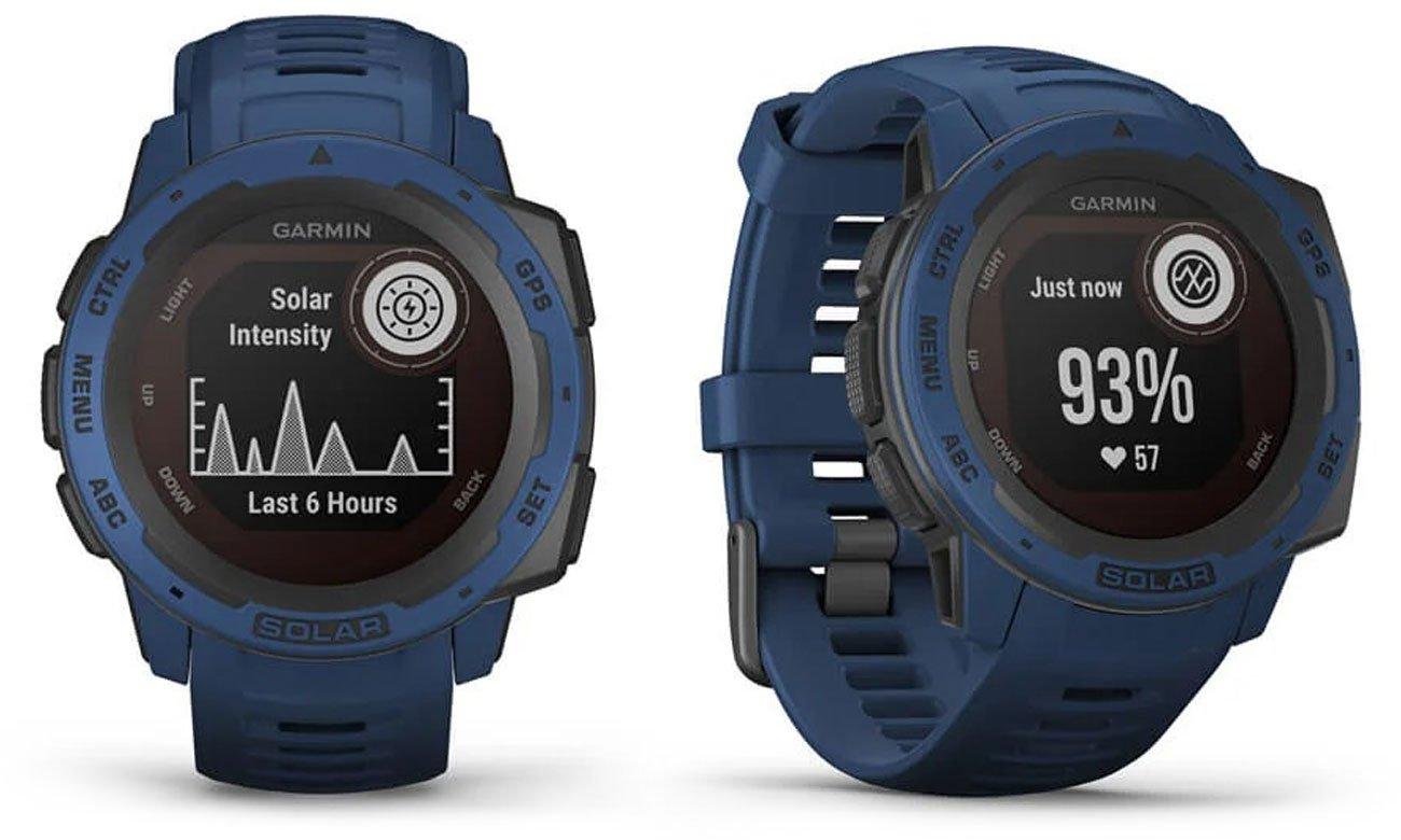 Zegarek sportowy Garmin Instinct Solar Ciemnobłękitny