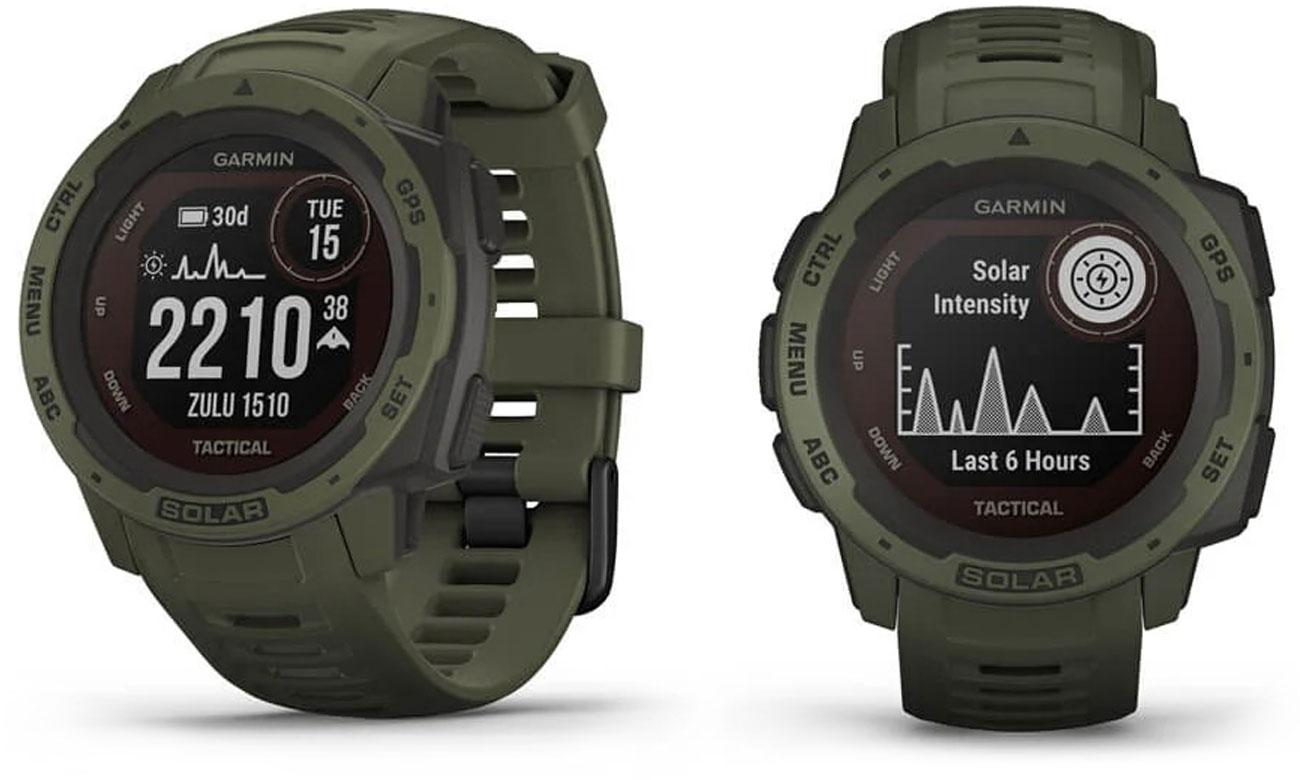 Zegarek sportowy Garmin Instinct Solar Tactical Edition Ciemnozielony