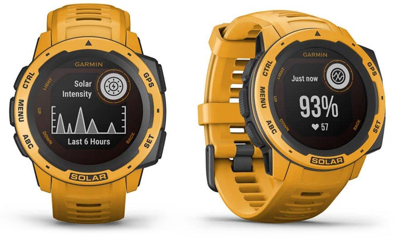 Zegarek sportowy Garmin Instinct Solar Ciemnożółty