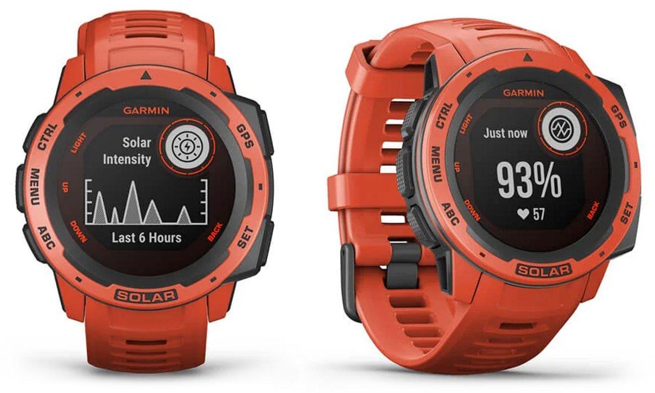 Zegarek sportowy Garmin Instinct Solar Ognistoczerwony
