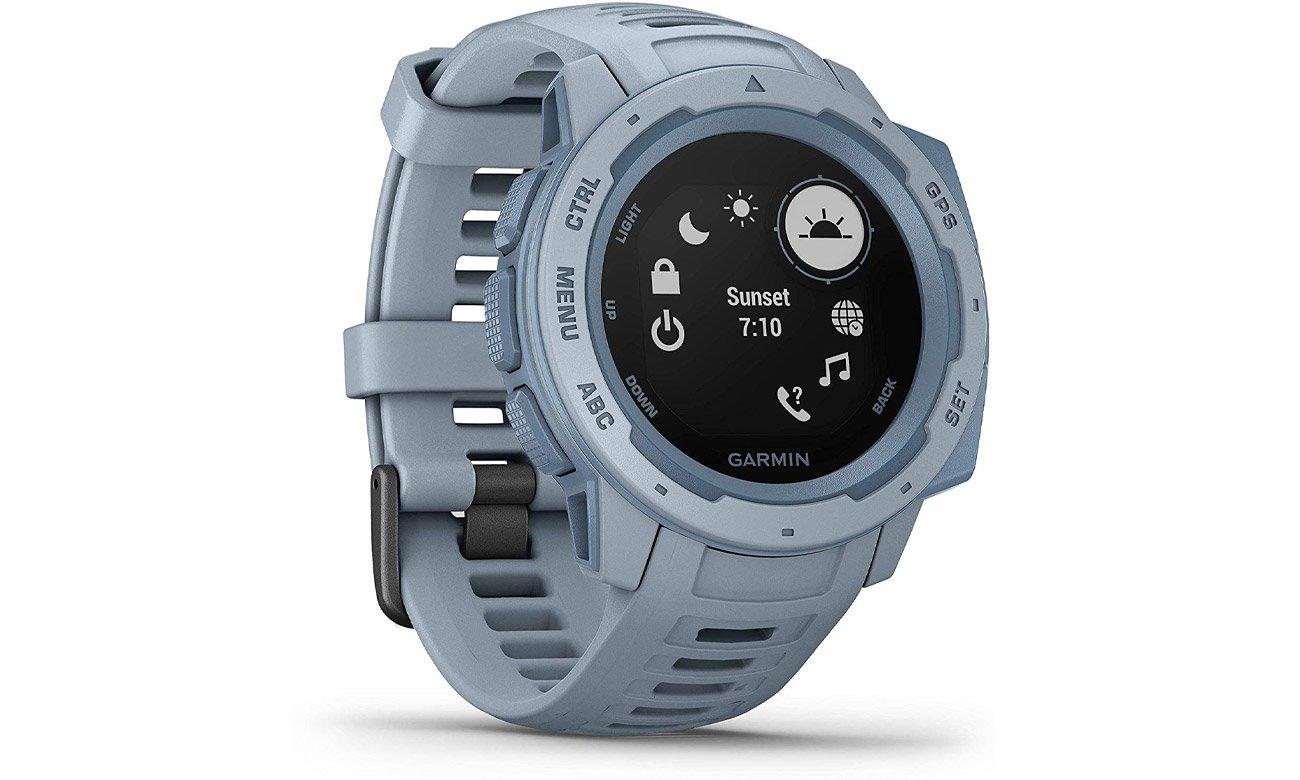 Zegarek sportowy Garmin Instinct szaroniebieski