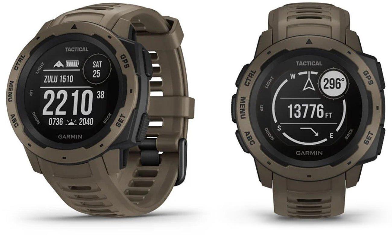Zegarek sportowy Garmin Instinct Tactical Edition Jasnobrązowy