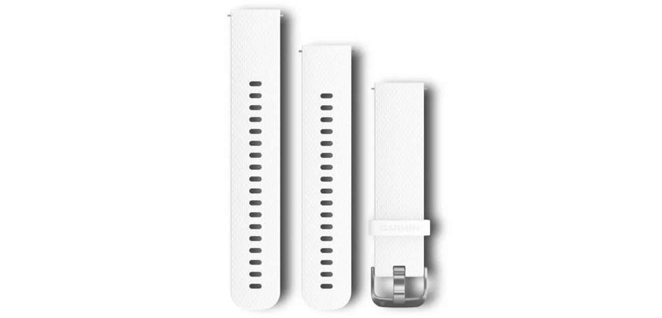 Pasek Garmin Quick Release 20 biały/stalowo-srebrny 010-12561-04