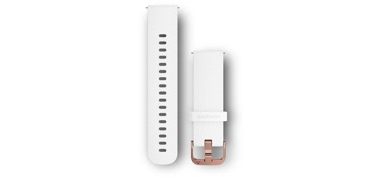 Pasek Garmin Quick Release 20 biały/różowe złoto 010-12691-00