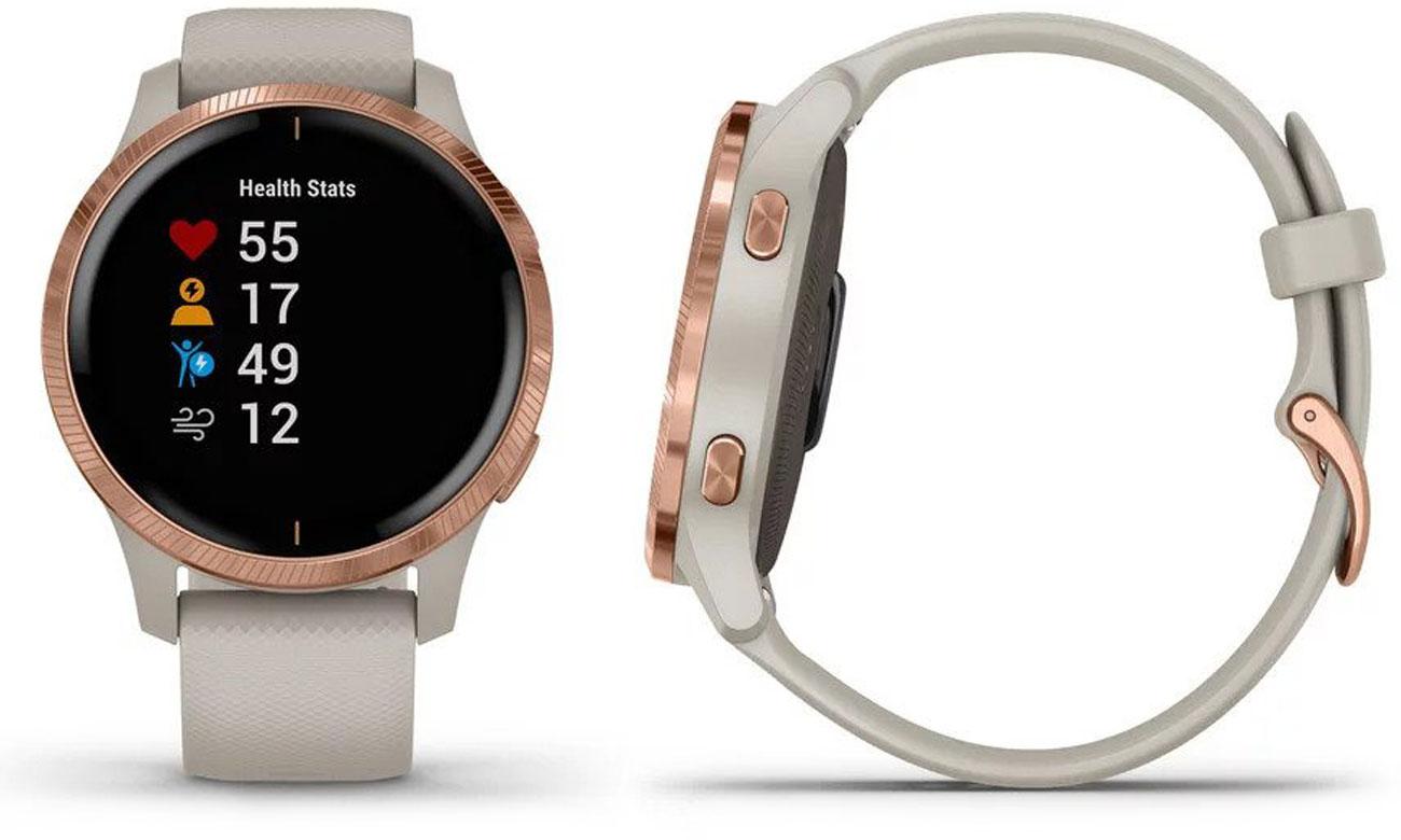 Zegarek sportowy Garmin venu różowozłoty-piaskowy