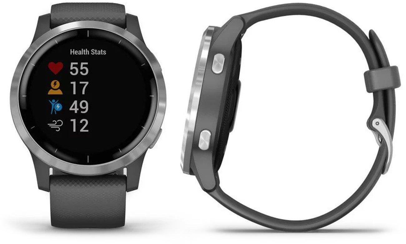 Zegarek sportowy Garmin vivoactive 4 srebrno-szary