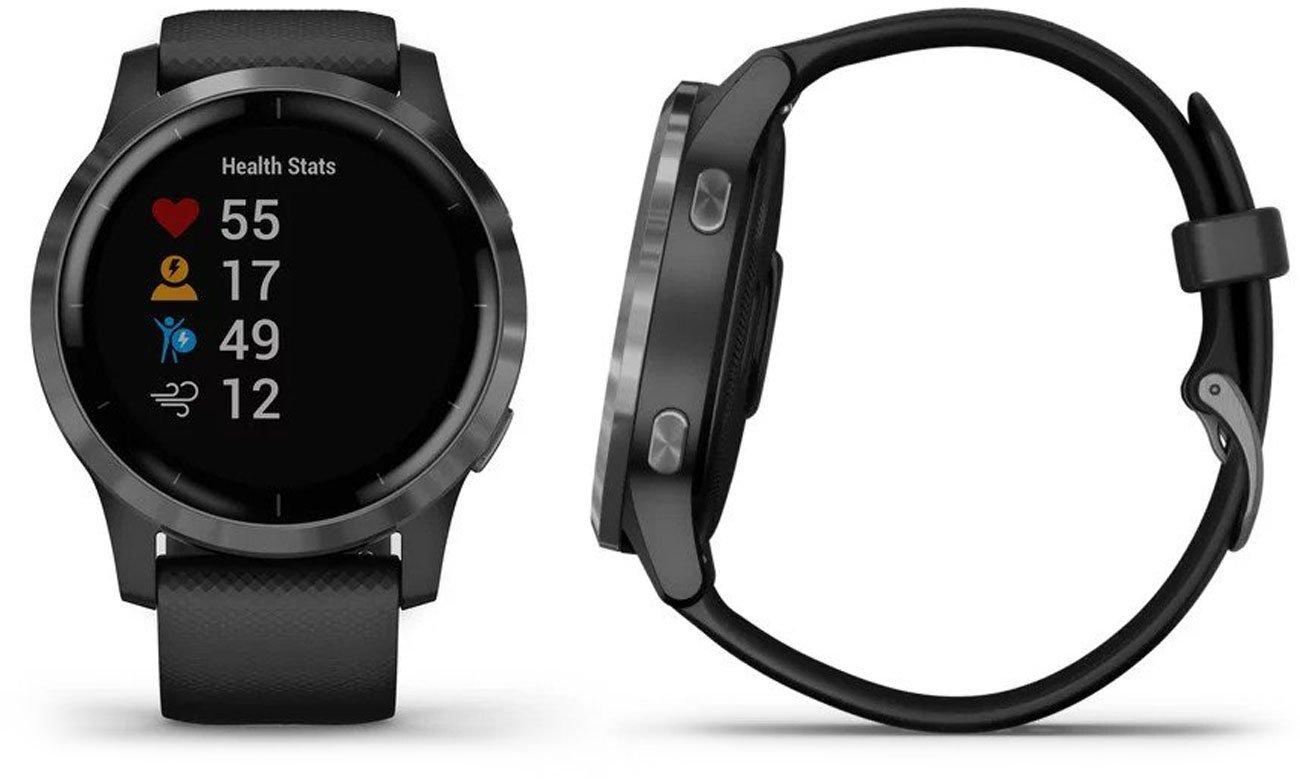 Zegarek sportowy Garmin vivoactive 4 czarno-grafitowy