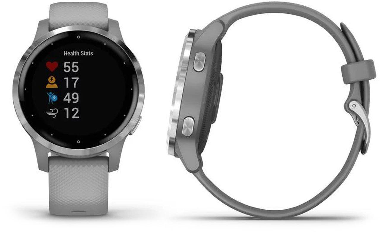 Zegarek sportowy Garmin vivoactive 4s srebrno-szary