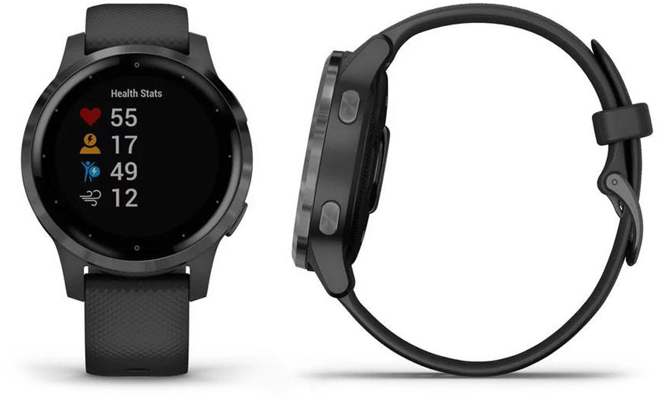 Zegarek sportowy Garmin vivoactive 4s czarno-grafitowy