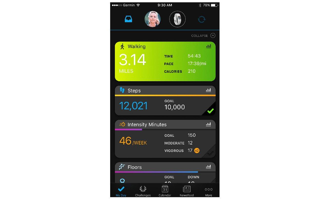 Aplikacja Garmin Connect