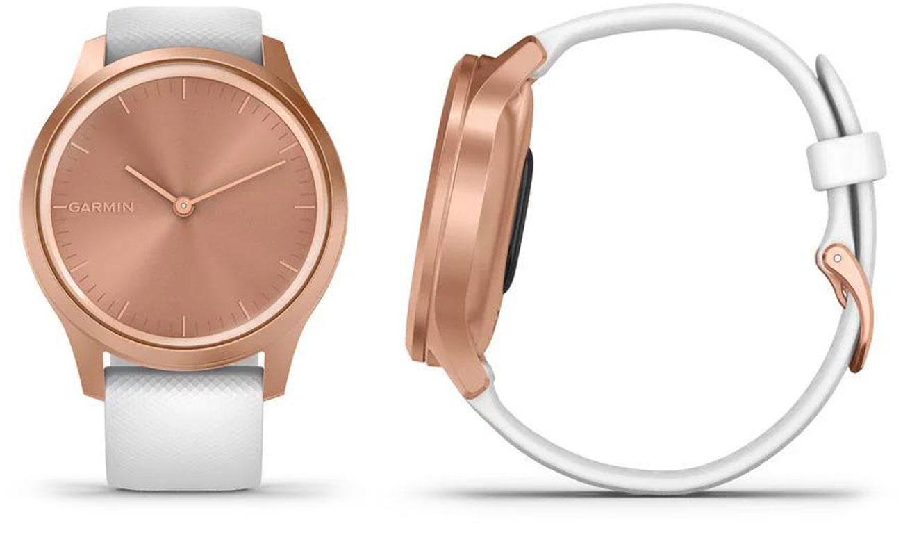 Zegarek hybrydowy Garmin vivomove 3 Style różowe złoto