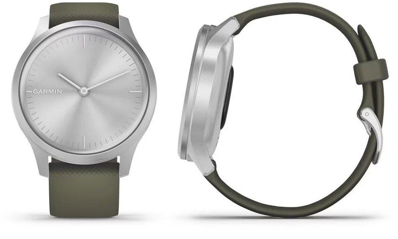 Zegarek hybrydowy Garmin vivomove 3 Style srebrno-zielony