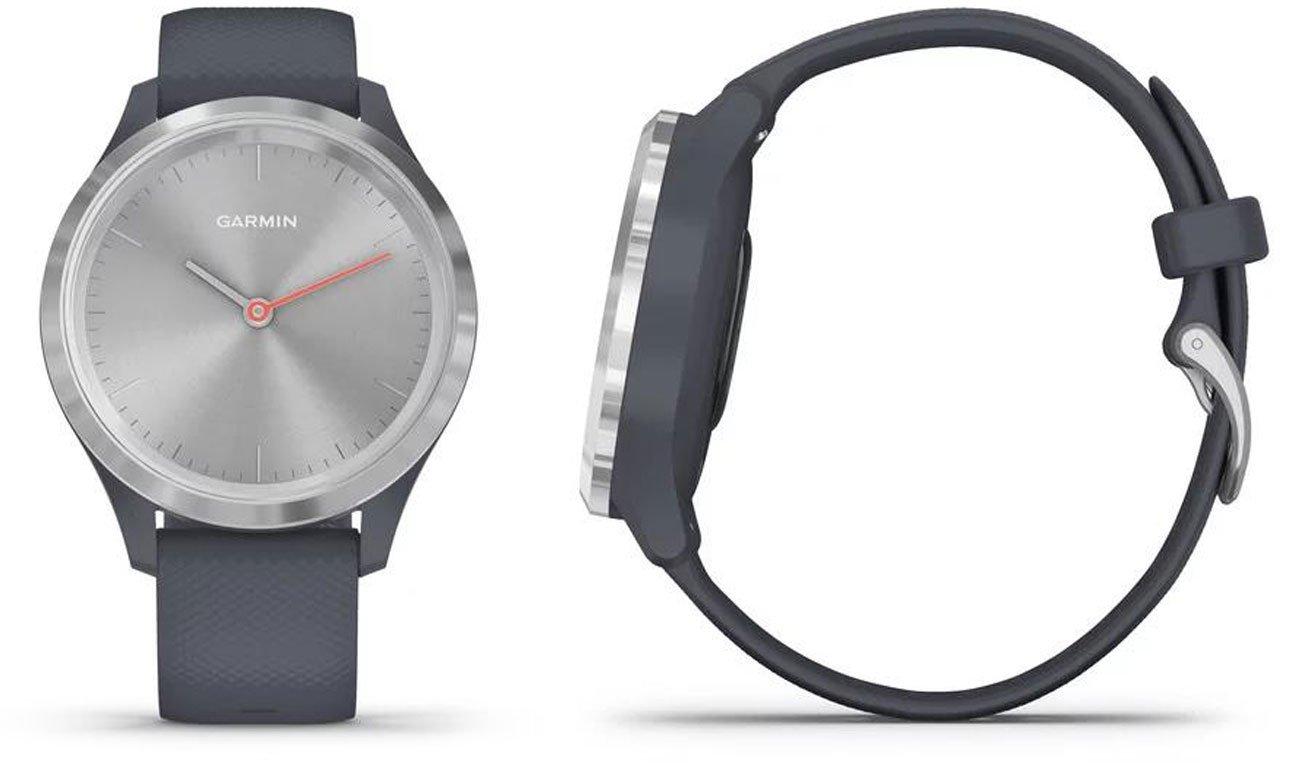 Zegarek hybrydowy Garmin vivomove 3s srebrny-niebieski