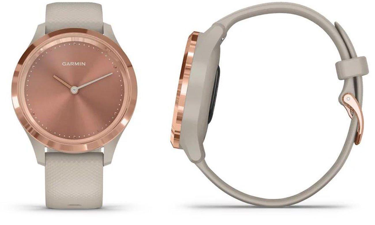Zegarek hybrydowy Garmin vivomove 3s różowozłoty-piaskowy