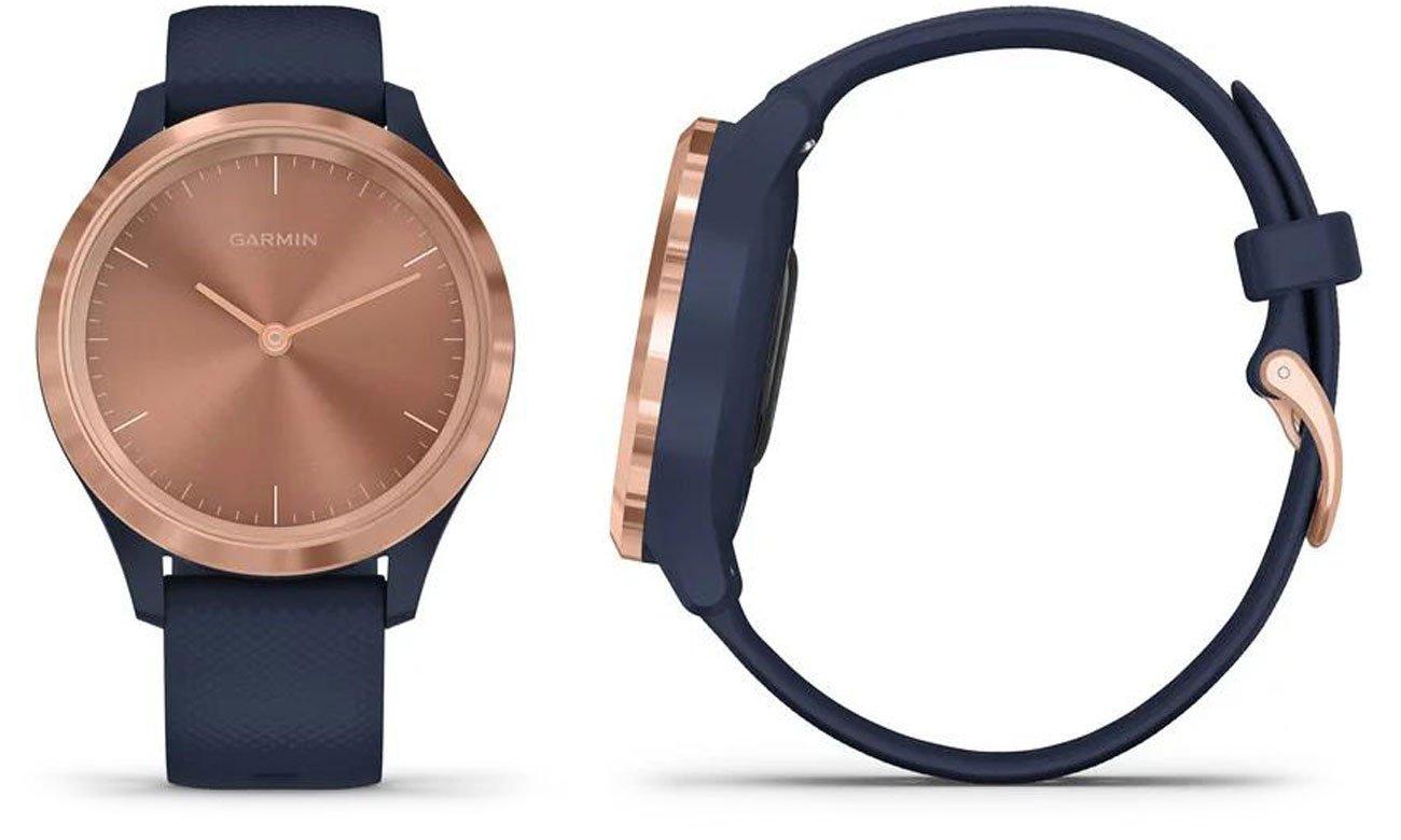 Zegarek hybrydowy Garmin vivomove 3s różowozłoty-granatowy