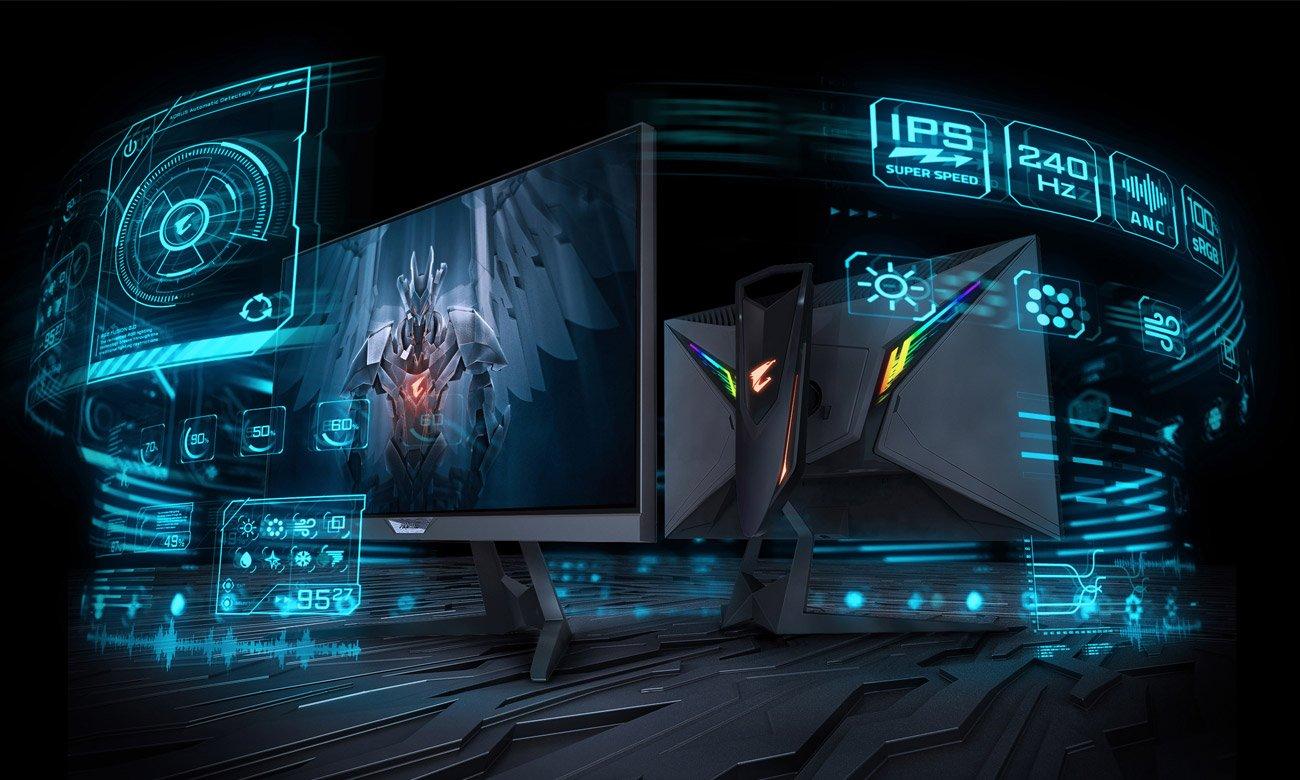 Monitor dla graczy Gigabyte Aorus FI25F prezencja