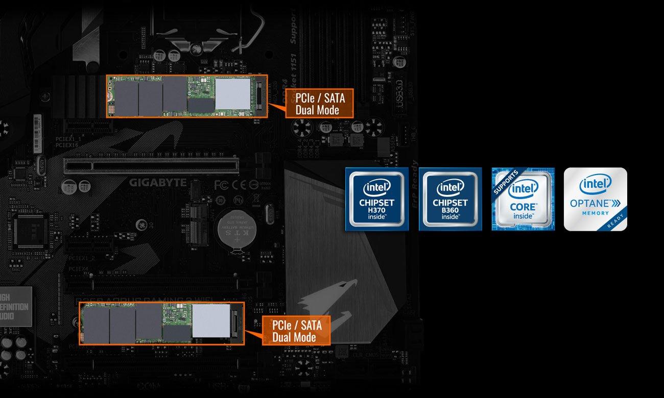 Gigabyte B360 AORUS GAMING 3 WIFI PCIe SSD M.2 NVMe Intel Optane