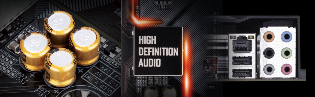 Gigabyte B360 AORUS GAMING 3 WIFI High Definition Audio