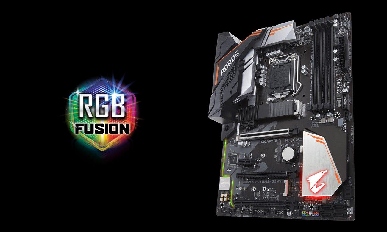 Gigabyte B360 AORUS GAMING 3 WIFI Podświetlenie RGB Fusion