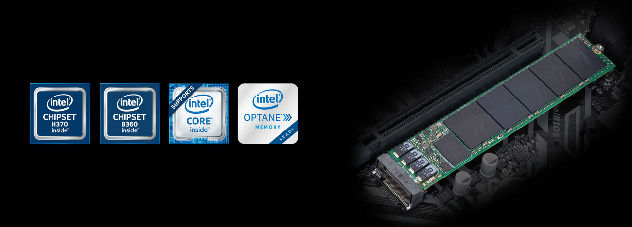 Gigabyte B360M D3H Złącze M.2 do 32 Gb/s Intel Optane
