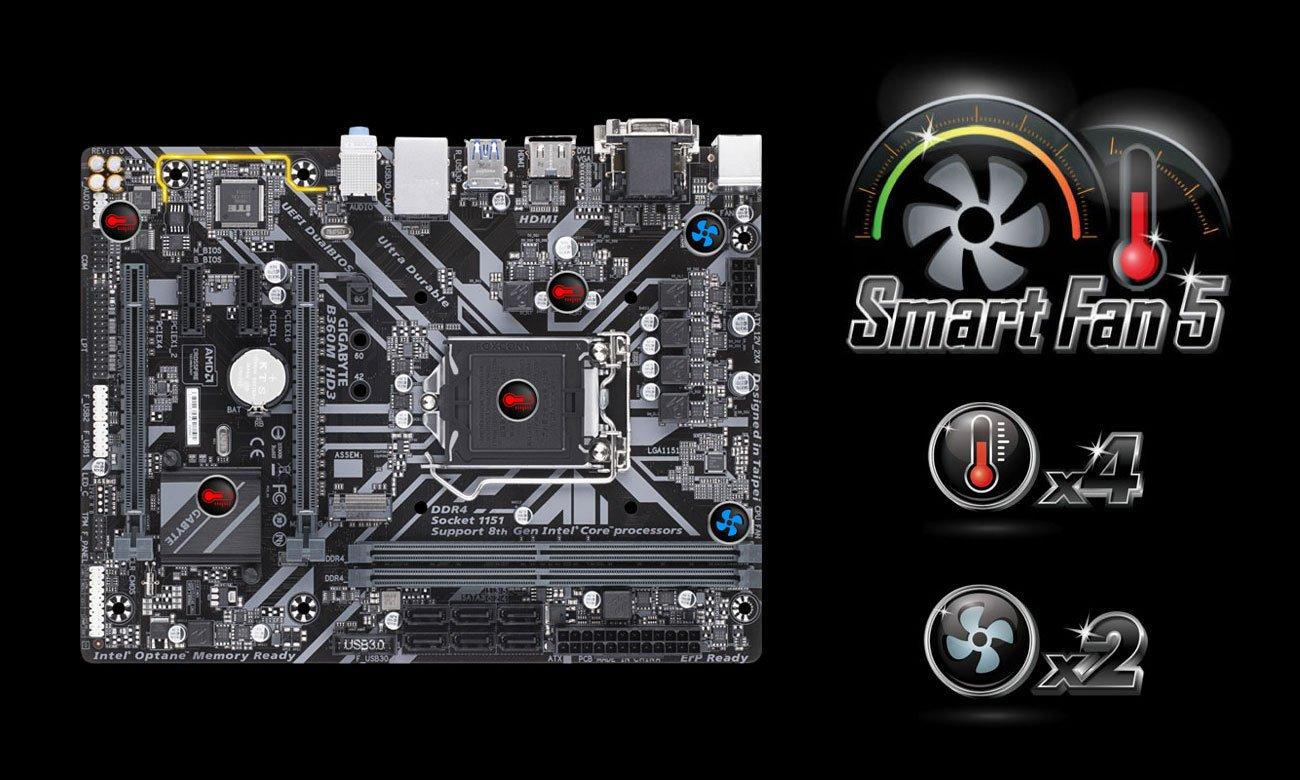 Gigabyte B360M HD3 Smart Fan 5