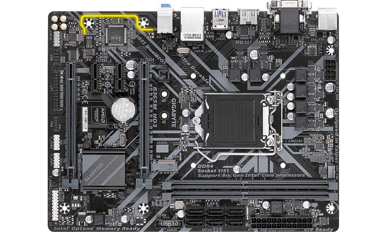 Gigabyte B365M HD3 - Złącza