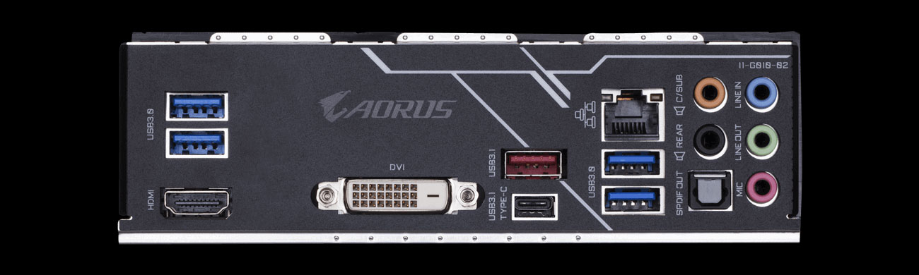 Gigabyte B450 AORUS PRO Porty USB