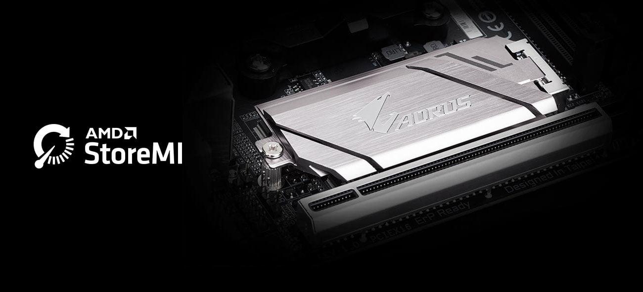 Gigabyte B450 I AORUS PRO WIFI Złącze M.2 AMD StoreMI