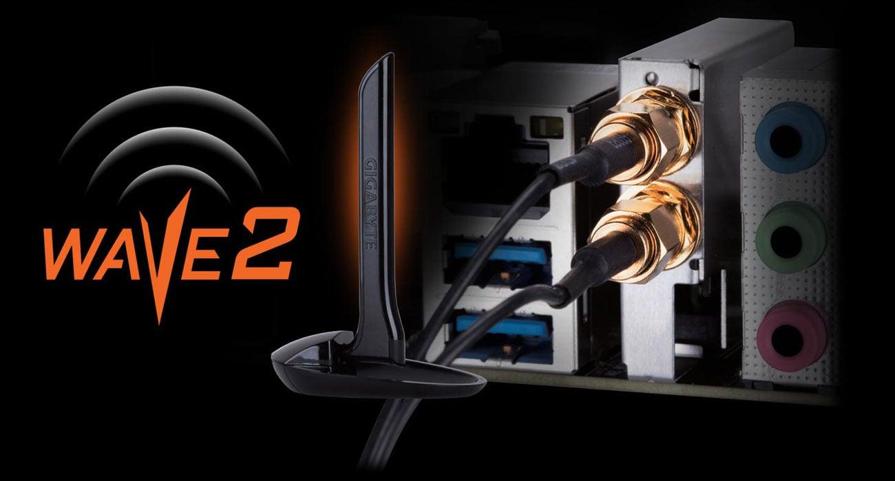 Gigabyte B450 I AORUS PRO WIFI Bezprzewodowa sieć WiFi Wave 2