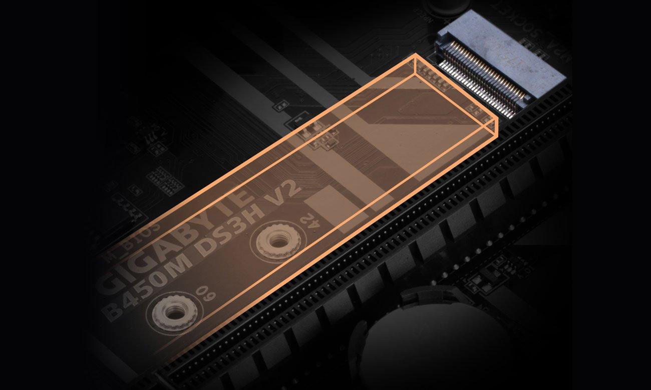 Gigabyte B450M DS3H V2 - Złącze M.2