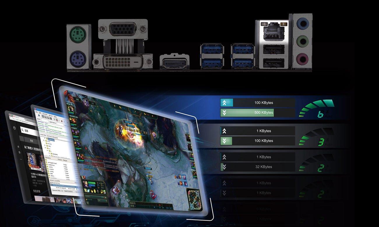 Gigabyte B450M GAMING Łączność LAN