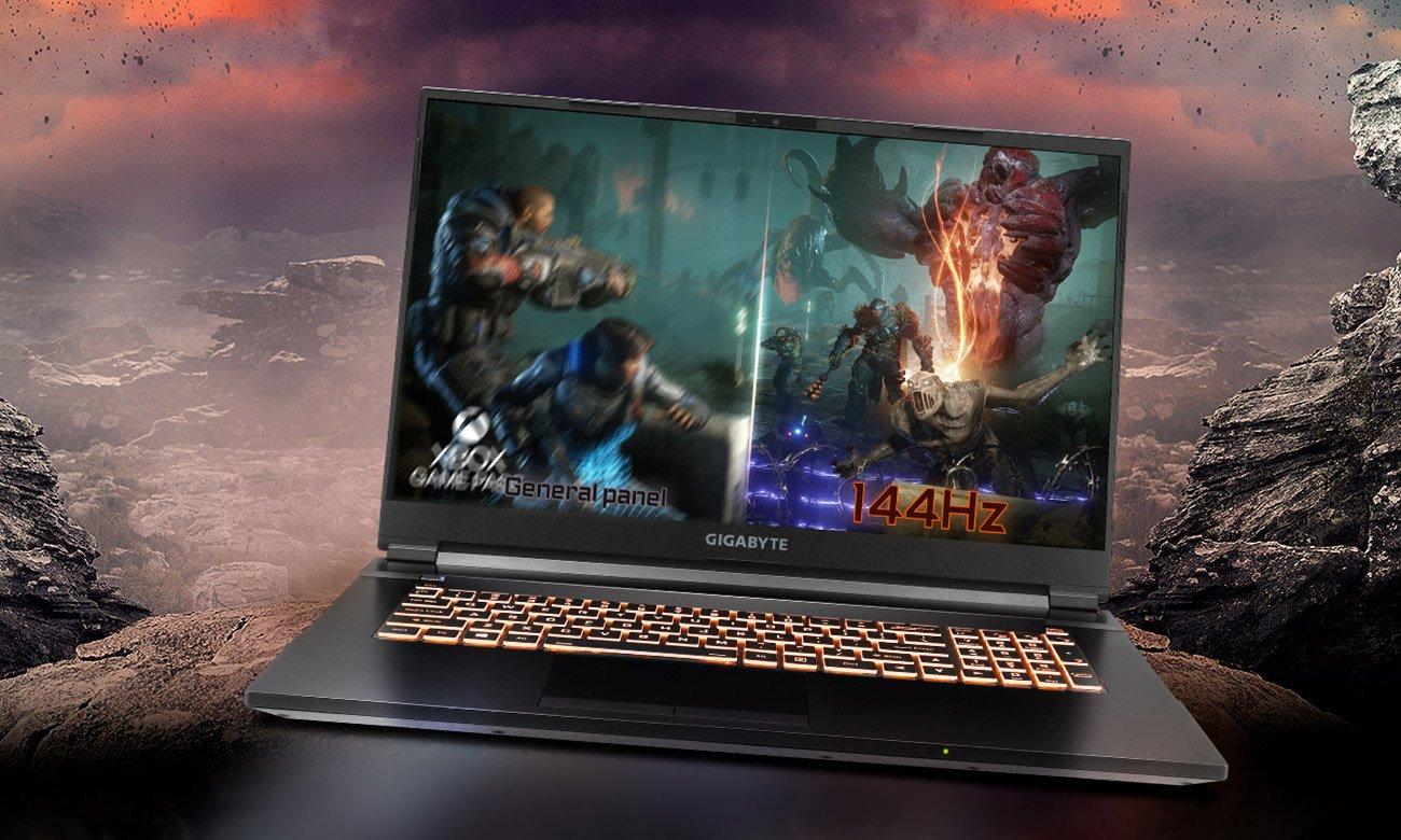Procesor Intel® Core ™ i7 dziesiątej generacji i odświeżanie 144 Hz