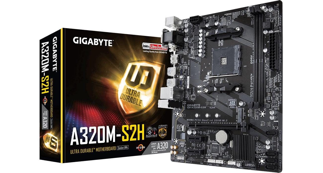 Płyta główna Socket AM4 Gigabyte GA-A320M-S2H
