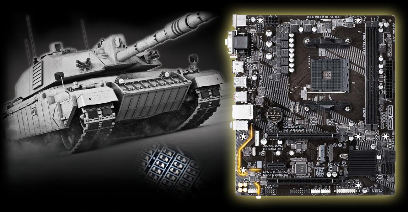 Gigabyte GA-AB350M-HD3 Ochrona rezystorów