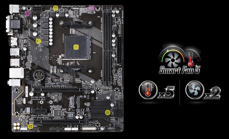 Gigabyte GA-AB350M-HD3 Smart Fan 5 Smart Fan 5